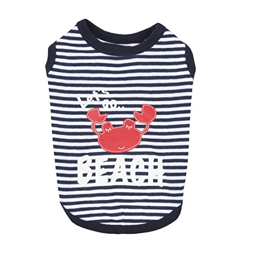 Beach Party Dog Shirt by Puppia - Navy by Puppia