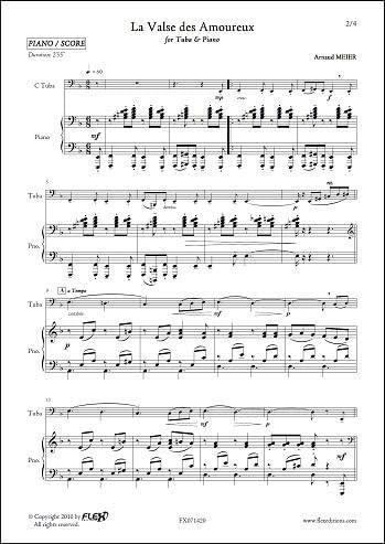 PARTITURA CLASICA - La Valse des Amoureux - A. MEIER - Tuba and ...