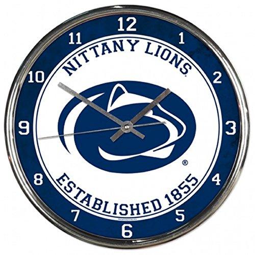 NCAA Penn State Nittany Lions Chrome Clock, 12