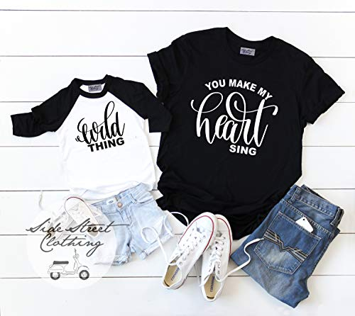 Wild Thing You Make my Heart Sing T shirt set * Includes 2 shirts * Available in Infant, Toddler, Youth and Adult sizes up to ()
