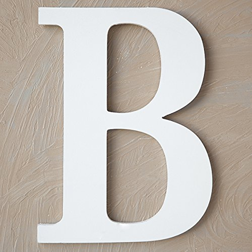 The Lucky Clover Trading B Wood Block, 24'' L, White Wall Letter, by The Lucky Clover Trading