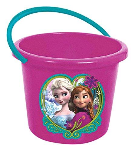Set Bucket Princess (Amscan Charming Disney Frozen Jumbo Plastic Favor Containers Novelty Buckets (1 Piece), Purple)