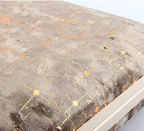 Belt For Sheet Evening Blue Bag Banquet Flannel Clutch Detachable Womens Accessories Party Metal Wedding Vintage Chain PwXxZ1