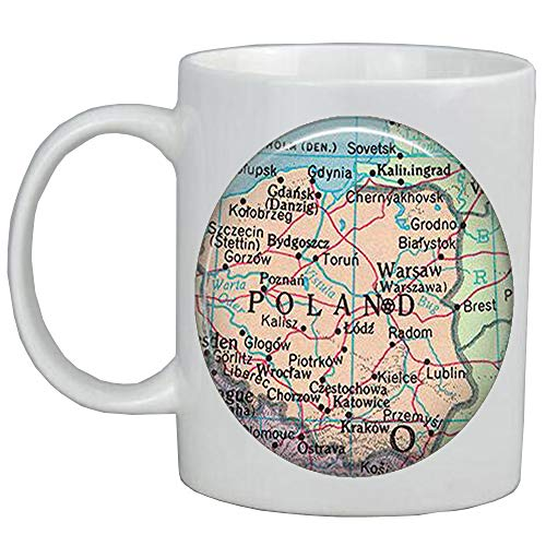 Fashion Coffee Mug Poland map Coffee Mug,Poland map Mug,Poland Coffee Mug,Poland Mug,Poland chain map jewelry,A0070
