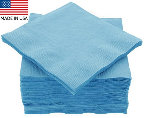 Light Blue Dinner Napkins - 3