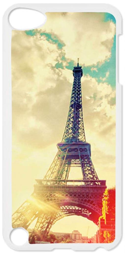 Eiffel Tower Case for the Apple Ipod 5th Generation-Hard White Plastic