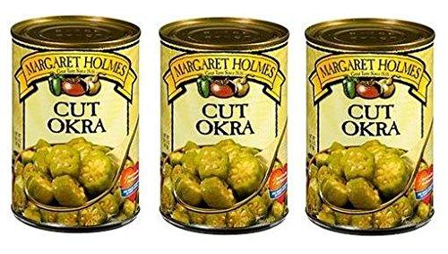 Margaret Holmes Cut Okra (Pack of 3) 14.5 oz Cans by Margaret Holmes
