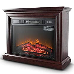 BELLEZE 1400W Deluxe Freestanding Fireplace Heater Indoor Flame Wood Log Caster from BELLEZE WHERE MODERN & AFFORDABLE MEET