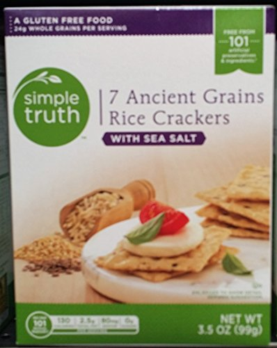 Simple Truth 7 Ancient Grains Rice Crackers 3.5 oz (Pack of 3) by Simple Truth