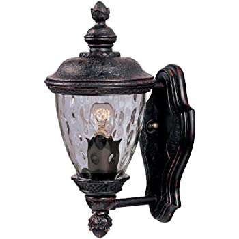 Maxim Lighting 3495WGOB Carriage House DC 1-Light Straight Mount Outdoor 12.5-Inch Wall Lantern, Oriental Bronze Finish