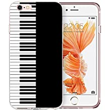 iPhone 6 Case, iPhone 6S Case Clear, Doramifer Modish Series Protective Case [Anti-Slip] [Good Grip] with Aesthetic 3D Print Soft Back Cover for 4.7 inch iPhone 6/6S (Piano)