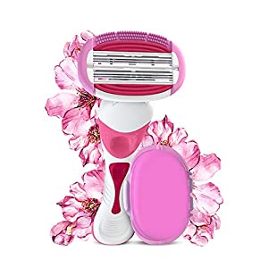 LetsShave Evior 6 Body Hair Removal Razor for Women, 1 Razor Handle, 1 Blade Cartridge, 1 Blade Case