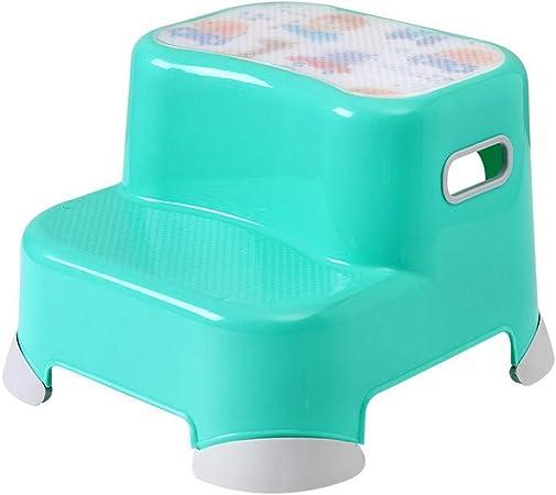 ZZF Taburete Pequeño De Plástico para Niños, Escalera para Lavamanos para Bebés, Niños Baño De Adultos Cocina,B: Amazon.es: Hogar