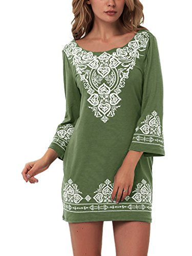 YunJey Womens Casual Sleeve Embroidered product image