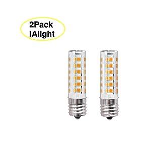 8206232A Light Bulb C9 E17 LED Bulb Microwave oven Light Dimmable 6W Appliance Bulb 580LM 60W Halogen Equivalent E17 LED Ceramic Bulb for Microwave Oven Appliance,Ceiling Fan(Day Light 6000k)Pack of 2