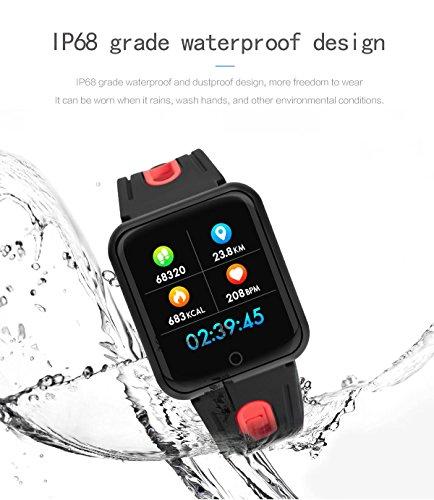 elecfan Waterproof Health Tracker, Smartwatch with Heart Rate Blood Oxygen Sleep SNS Remind Electronic Wearable Travel Office Sports Activity Bracelet for iPhone X/7/8,Samsung Galaxy S9/Note 8,Grey by elecfan (Image #6)