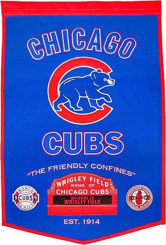 Chicago Cubs Dynasty Banner - Licensed MLB Memorabilia - Chicago Cubs (Mlb Licensed Banners)