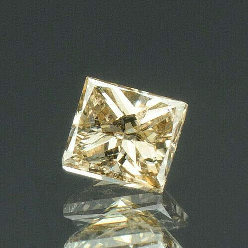 (0.14 cts. CERTIFIED Princess Cut SI2 Intense Brown Loose Natural Diamonds 7872)