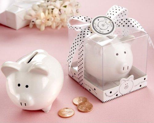Kate Aspen Lil Saver Favor Ceramic Mini-Piggy Bank in Gift Box with Polka-Dot Bow -48 In Total by Kate Aspen (Image #1)