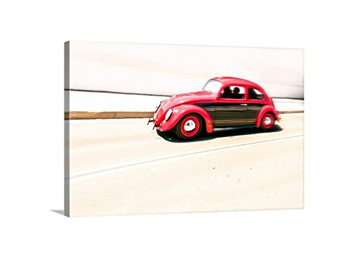 Beetle #2 Art Print on Vintage Book Page Garden Office Home Wall Hanging Decor