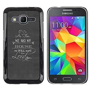 Señor Servir El Dios cristiano Religión- Metal de aluminio y de plástico duro Caja del teléfono - Negro - Samsung Galaxy Core Prime