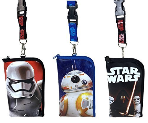 Disney Star Wars Lanyard ID Holder Cute Design Set of 3