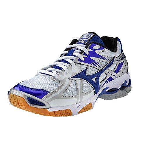 Mizuno Wave Bolt 4 Women's Volleyball Shoes - White & Royal (Women's 10)