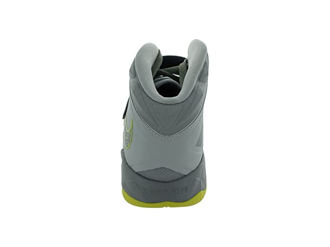 official photos e2821 19edc Amazon.com   Nike Mens Zoom Soldier VII Basketball Shoes Pure Platinum Wolf  Grey Sonic Yellow 599264-001 Size 10.5   Basketball