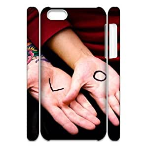 Iphone 5C Case 3D, Hand Love Case for Iphone 5C white lm5c172317