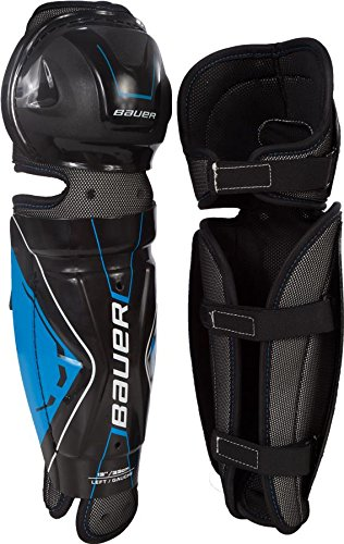 Shin Guard Bauer (Bauer Junior Performance Street Hockey Shin Guard (Pair), Black, 10-Inch)