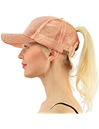 Ponytail Messy Buns Trucker Ponycaps Plain Baseball Visor...