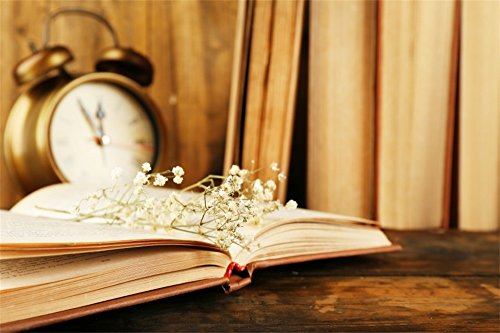LFEEY 7x5ft Bokeh Clock Books Backdrop Simple Room Interior Books on Wooden Table Backgrounds 2019 Happy New Year Eve Background Girls Kids Newborn Portrait Photo Studio Props