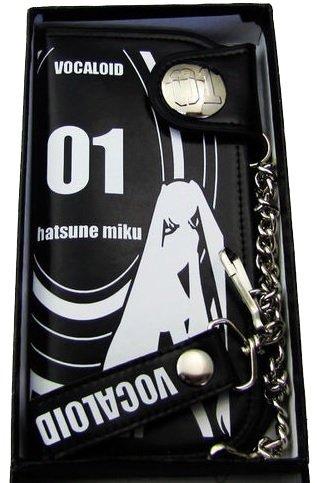 Xcoser Vocaloid Wallet Hatsune Miku Pattern Purse Black Cosplay Prop