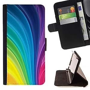 Momo Phone Case / Flip Funda de Cuero Case Cover - Curvas patrón de rayas vibrante Gay - Samsung Galaxy J1 J100
