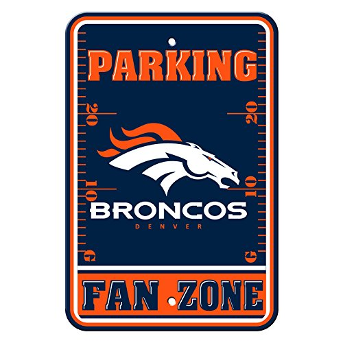 Denver Broncos Parking Sign - Fremont Die Official National Football League Fan Shop Authentic NFL Parking Sign (Denver Broncos)