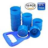 6 gallon beverage cooler - Shengruhua 3 & 5 Gallon Water Jug Cap Replacement Non Spill Bottle Caps with Cap-Opener Anti Splash Peel Pack of 10