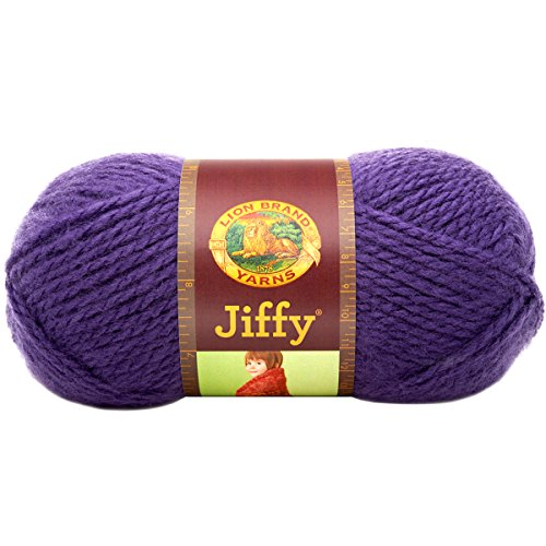 Lion Brand Yarn 450-191 Jiffy Yarn, Violet ()