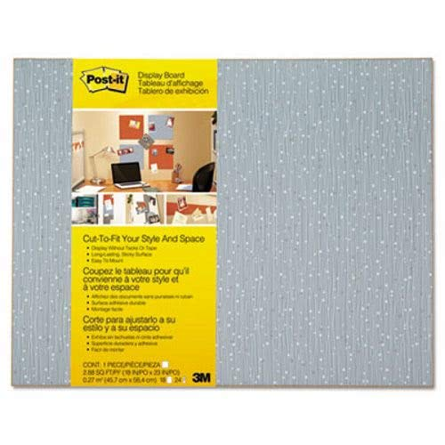 (Post-it Display Board, 18 x 23, Ice, Frameless, Sold as 1 Each)