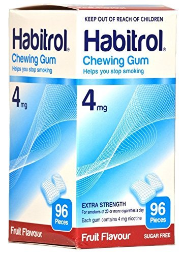 Habitrol 4mg FRUIT Flavor Nicotine Quit Smoking Chewing Gum. 6 Boxes of 96 each (576 (4 Mg Fruit Flavor)