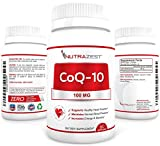 Nutrazest CoQ10 100mg - 100 Pure CoEnzyme Q-10 Benefits Cardiovascular Health Energy and Stamina Muscle Recovery Brain Health amp Supports Healthy Blood Pressure - All Natural Formula - 60 Softgels Discount