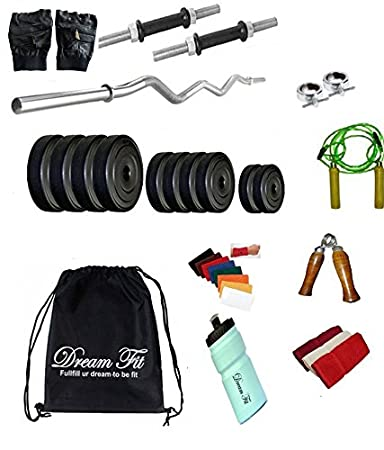 81ed7b1668 DREAMFIT 20 KG Home Gym with 3ft CURL Rod