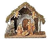 5pc Set 5'' Figurine Wedding Creche Nativity Fontanini By Roman