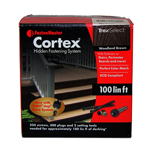 - Fmctx-Tx1lfslwb Cortex Concealed Deck Fstnr Sys Trex Select Woodland Brown 100sq
