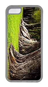 case sale Old Tree Trunks TPU Transparent Case for iphone 5C
