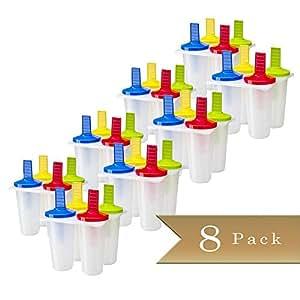 Set of 8 - TrueCraftware Ice Pop Maker - Popsicle Molds