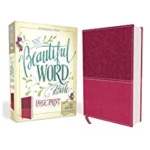 NIV, Beautiful Word Bible, Large Print, Imitation Leather, Pink: 500 Full-Color Illustrated Verses