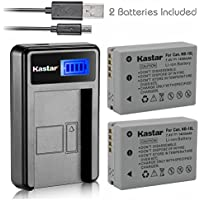 Kastar Battery (X2) & LCD Slim USB Charger for Canon NB-10L, NB10L and PowerShot SX40 HS SX40HS, SX50 HS SX50HS, G1 X G1X, Powershot G15, PowerShot G16 Digital Cameras