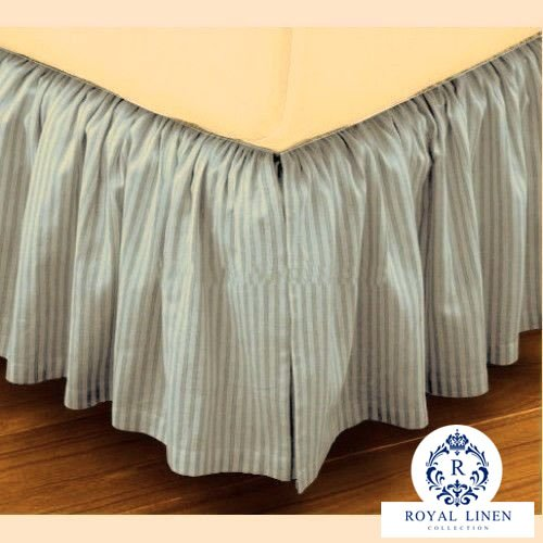 Royal Linen Collection Hotel Quality 800TC Pure Cotton Dust Ruffle Bed Skirt 16