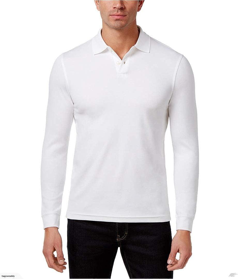 Tasso Elba Mens LS Rugby Polo Shirt