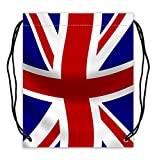 The Union Jack Pattern Fashionable Polyester Fabric Basketball Drawstring Bags Drawstring Backpack